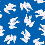 Vector seamless pattern with doves vector illustration