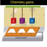 Question template - Chemistry game version 01 stock illustration