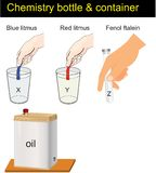 Chemistry - conteiners and litmus vector illustration