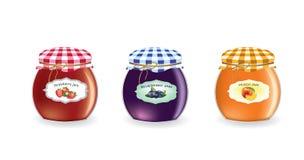 Jam jars set