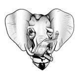 Gentleman Elephant Victorian Millionaire American Republican Elegant Patriotic Black White stock illustration