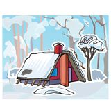 Winter landscape for turkish lessons royalty free illustration