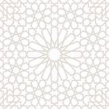 Morocco Seamless Light grey Pattern, Traditional Arabic Islamic wallpaper. Geometric heritage design, vector illustration stock illustration