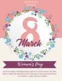 Women`s Day Celebration flyer template royalty free illustration