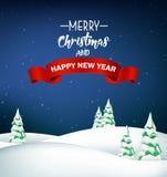 Christmas winter landscape background royalty free illustration