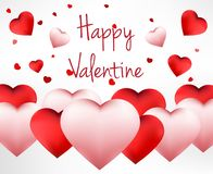 Happy Valentines Day background with red heart vector illustration