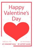Valentines Day party flyer design stock illustration