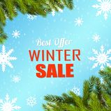 Winter sale poster vector illustration