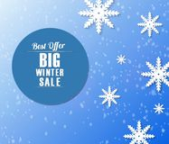 Winter sale banner stock illustration