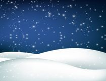 Christmas winter landscape with falling snow royalty free illustration