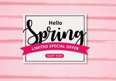 Spring sale background stock illustration