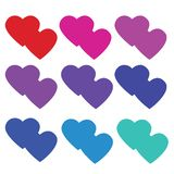 This is Love heart vector art. Clip art february vector illustration