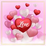3d love icon pattern background vector illustration