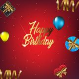 Happy Birthday background illustration for party royalty free illustration