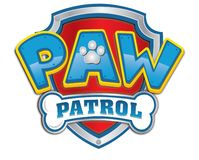 Paw patrol logo icon Animated series royalty free illustration