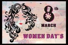 National women`s day banner theme stock illustration