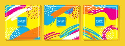 Abstract Colorful Memphis Art Background vector illustration