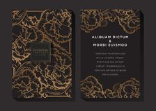 Black and Gold Invitation Background vector illustration