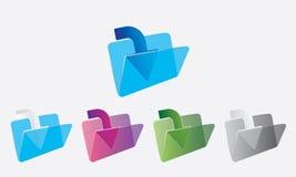 Copy Folder Icon -Vector Computer Download Folder Logo. Computer Copy folder icon for windows and multiple color folder icon and symbol , eps file stock illustration