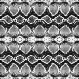 Snake skin pattern texture repeating seamless monochrome black and white. Vector. Texture snake. Fashionable print. Fashion and st vector illustration