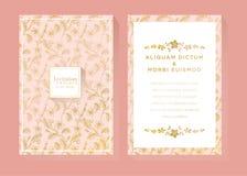 Rose Gold Invitation Template royalty free illustration
