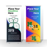 Roll up banner design -abstract stock illustration