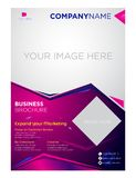 Brochure flyer business company and corporate design stock illustration
