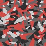 Geometric camouflage seamless pattern. Urban military clothing style, masking camo repeat print.
