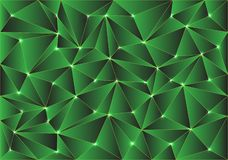 Abstract green glossy polygon pattern design modern background texture vector royalty free illustration