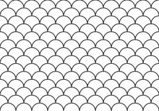 Half circles wallpaper stock illustration