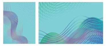 Set of backgrounds with trendy colorful abstract design for brochures, posters, presentations and banners. stock photo