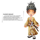 Vector isolated samurai. royalty free illustration