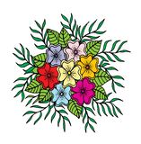 Hand drawn floral doodle. Coloring pages for book. Vector. Line art stock illustration