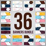 Bundle of 36 Vector Abstract Design Banner Web Template - EPS 10 royalty free stock photography
