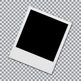 Blank polaroid photo frame vector illustration