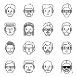 Men avatar icons. Vector illustration of men characters. stock illustration