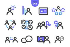 Organization vector illustrate line icon. vector illustration