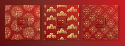 Red and Gold Pattern royalty free stock image