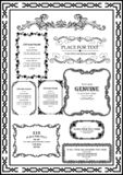 Set decorative vintage frame black color  picture is very good. Set decorative vintage frame black color which is very suitable and good for adding and royalty free illustration