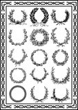 Nice Elements vintage frames set black color. Which is very suitable and good for adding and beautifying your design so that the picture is very good royalty free illustration