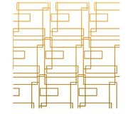 Abstract gold square with white background vector illustration