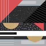 Trendy geometric elements memphis cards. Geometric style texture, pattern and geometric elements. vector illustration