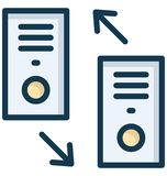Dialed and received calls Isolated Vector Icon which can easily modify or edit Dialed and received calls Isolated Vector Icon whi. Dialed and received calls stock illustration