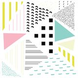 Abstract Geometric Doted Linear Triangle, Stylish Tiles with different ornament, Retro illustration. Simple background vector illustration