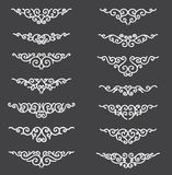 Ornamental Rule Lines. Decorative Vector Design Elements - Vector. Border and divider. Reflection flat effect. royalty free illustration