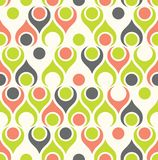 Seamless teardrop mid century modern pattern in green and pink. Seamless abstract midcentury modern pattern for backgrounds, fabric design, wrapping paper stock illustration