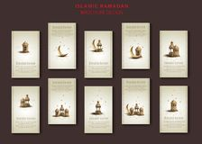 Islamic greeting ramadan kareem brochure templates design vector illustration
