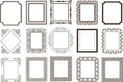 Frames page borders stock photography