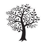 Black Tree Logo  silhouette. stock illustration