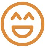Big grin, laugh Vector Isolated Icon which can easily modify or edit royalty free illustration